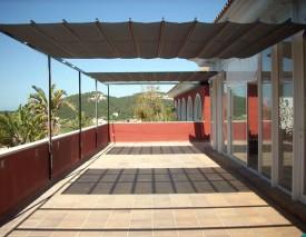 Toldos para terrazas planos tradicional toldos alcobendas for Toldos madera para terrazas